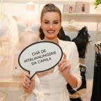 Camila Queiroz celebra seu Chá de Lingerie em loja da Intimissimi em Ipanema