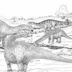 Dinossauro em exposição no Museu de Historia Natural de MT