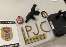 Polícia Civil apreende 159 munições e pistola durante cumprimento de mandado de busca em Sorriso