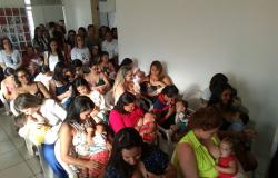 'Mamaço' reúne 50 mães em Boa Vista para promover aleitamento materno