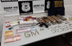 Ação integrada prende traficante com drogas, armas e munições em Várzea Grande