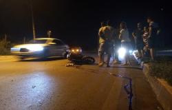 Agente prisional fica ferido em acidente de moto em VG