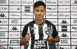 Botafogo apresenta atacante peruano Lecaros, nova aposta da temporada