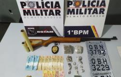 Rotam identifica suspeito e apreende droga e arma em residência no bairro Planalto