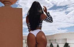 Musa fitness Michelle Zanin ostenta shape sarado durante a quarentena