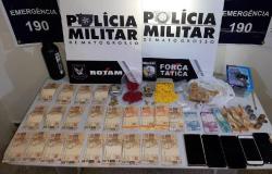 Rotam prende 482 comprimidos de ecstasy e mais de 400 notas falsas no Jardim Imperial em Cuiabá