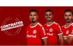 Inter prorroga contratos de Thiago Galhardo, Rodrigo Lindoso e Uendel