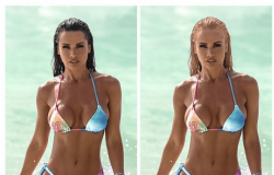 Fernanda D´ávila posta fotos na versão loira e morena e fãs vão à loucura