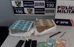 PM prende dupla com R$ 1 milhão em VG; suspeita é de estelionato