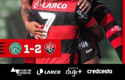 Série B: Vitória ganha do Guarani em São Paulo e sai do Z-4