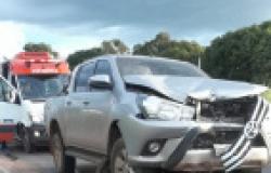 Dois morrem em choque de moto e Hilux na MT-040