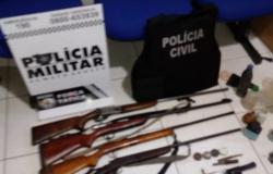 Operação em Lambari D>Oeste apreende arma suspeita de usada em tiro na casa do prefeito