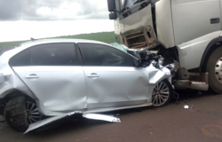 Morador do Médio Norte morre em violenta colisão com carreta no Mato Grosso do Sul