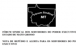 Nota Fórum Sindical