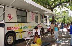Agenda de coleta do ônibus em Cuiabá e campanhas internas são oferecidas pelo Hemocentro.