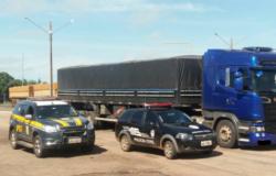 Caminhões são autorizados a circular por Cuiabá para abastecimento de combustível e alimentos.