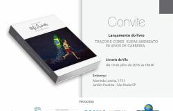 Elifas Andreato recebe Toquinho, Laerte e Fernando Marais para o lançamento de seu livro