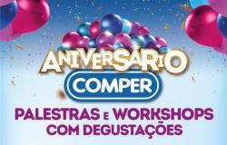 Workshops com degustação gastronômica integram a programação de aniversário do Comper