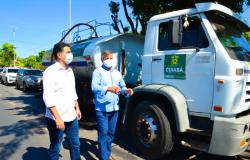 Higienização com caminhões-pipa é sequência de um programa de proteção a saúde pública