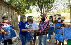 Quilombola  de São Gonçalo recebe cestas básicas e cobertores