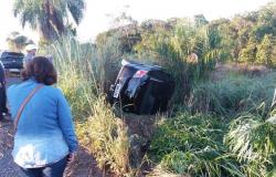 Deficiente auditivo é detido após furtar carro e capotar na Estrada da Guia