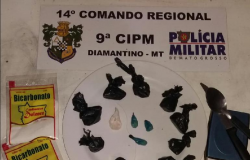PM apreende drogas na casa de ex-segurança do BB em Diamantino; suspeito está foragido