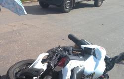 Acidente de trânsito deixa motociclista ferido