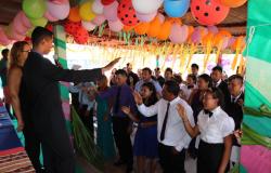 Índios Bakairi  comemoram conclusão de ensinos médio e fundamental na aldeia Santana