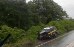 Viatura da PRF se envolve em acidente na BR-174