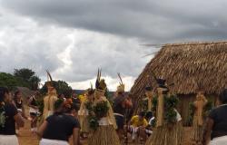 Dia do Índio é comemorado com dança cultural na Aldeia  Santana : veja fotos