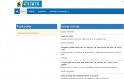 Câmara de Nobres descumpre Lei de transparência; portal está desatualizado há mais de um ano