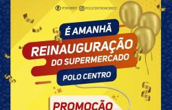 Supermercado Polo Centro será reinaugurado neste sábado (10)