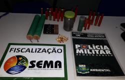 Sema apreende explosivos durante operação
