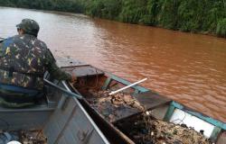Batalhão Ambiental e Sema apreendem material de pesca predatória