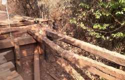 Prefeitura vai fazer construção emergencial de ponte sobre o Rio Jatobá no Distrito de Bauxi