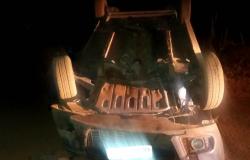 PM encontra veículo tombado em Bom Jardim