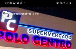 Supermercado Polo Centro de Nobres passsa por desinfecção