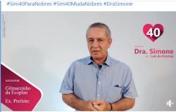 Filiado ao DEM, ex-prefeito Gilmazinho da Ecoplan e ex-primeira-dama, declaram apoio a candidatura da Dra. Simone Mendes; veja vídeo