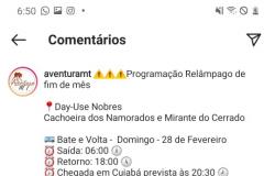 Guia de turismo denuncia exploração ilegal da Cachoeira dos Namorados em Nobres