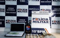 Homem é preso pela PM por tráfico de droga e golpes em site de vendas