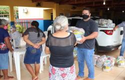 Secretaria de Assistência Social distribui cestas básicas na zona rural