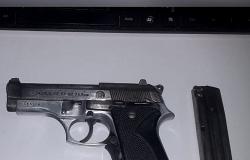 Durante abordagem PM apreende pistola em Nobres