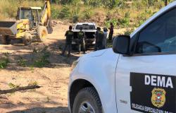 Polícia Civil e Sema fiscalizam obras irregulares em condomínio de chácaras