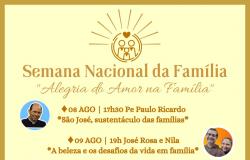 Semana Nacional da Família em Nobres começa neste domingo com palestras