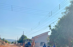 Concessionária Esan e Prefeitura  de Nobres iniciam obras de Drenagem no Jardim Paraná