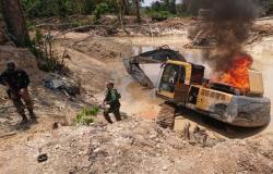 Polícia Federal faz operação para desocupar garimpo ilegal de ouro em terra indígena em MT