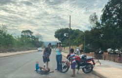 Motociclista fica ferido ao empinar  moto em Nobres