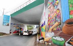 Túnel da rodoviária recebe intervenção artística