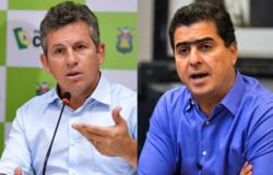 """Novo """"embate"""" entre o governador Mauro Mendes (DEM) e o prefeito Emanuel Pinheiro (MDB)."""