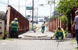 Ponte de Ferro do Rio Coxipó recebe ação de reparo